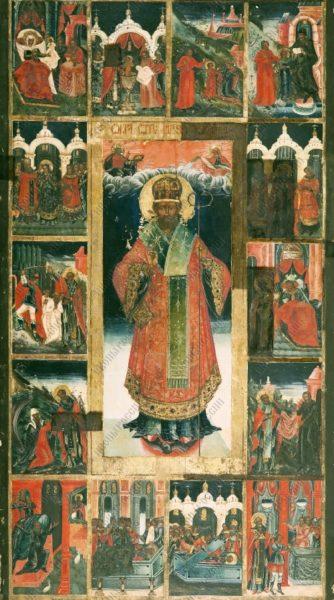 Николай Чудотворец житийная икона
