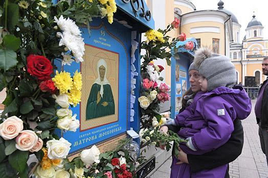 Цветы от Матроны Московской