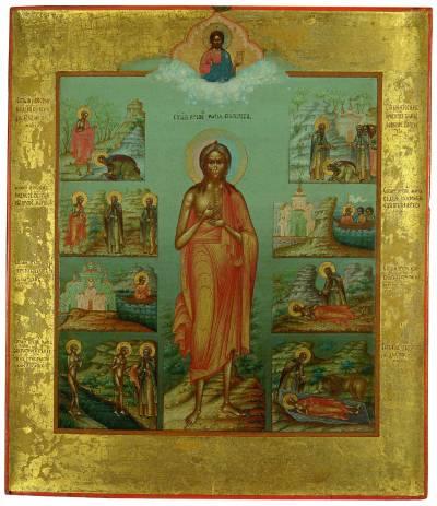 икона Мария Египетская с житием