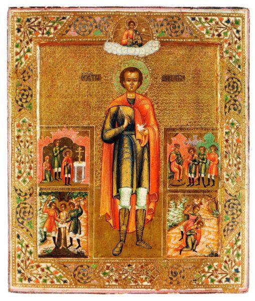 икона мученика Трифона с житием