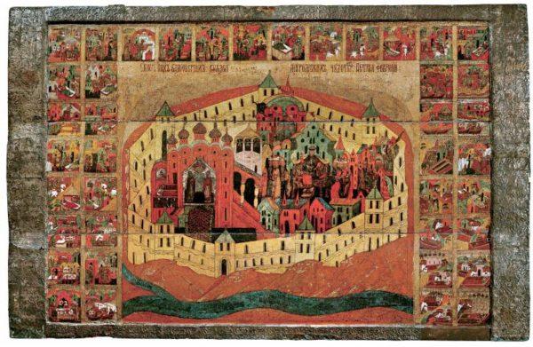 икона Пётр и Феврония Муромские с житием