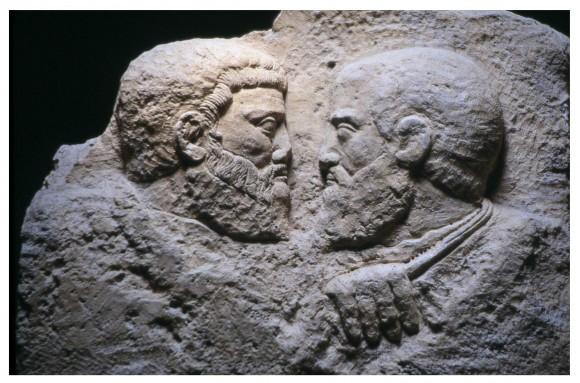 Барельеф на камне Пётр и Павел