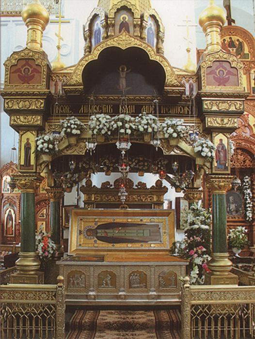 Мощи преподобного Серафима Саровского в Дивеево