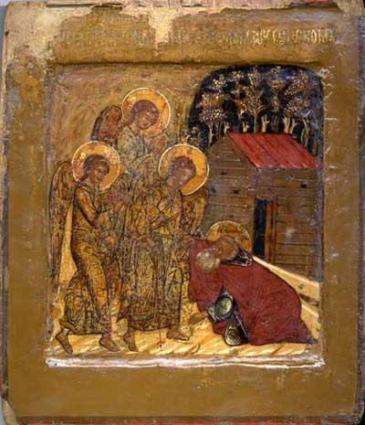 Явление Троицы преподобному Александру Свирскому