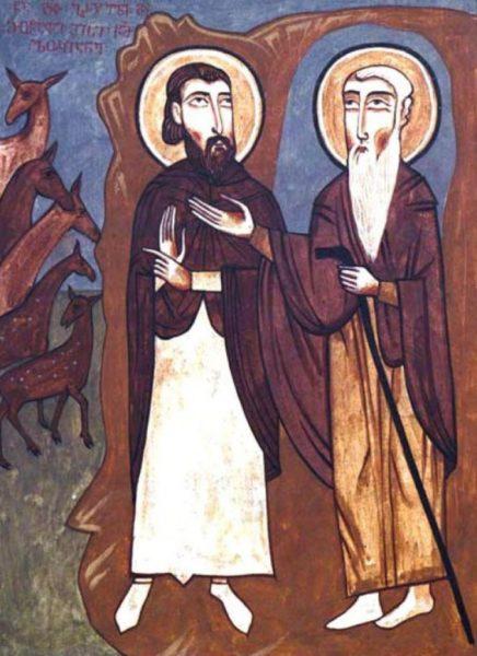 святой Давид и его ученик св. Лукиан