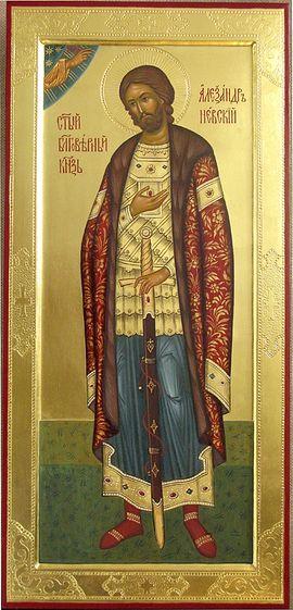 Икона св.блг.князя Александра Невского, написанная в мастерской Данилова монастыря