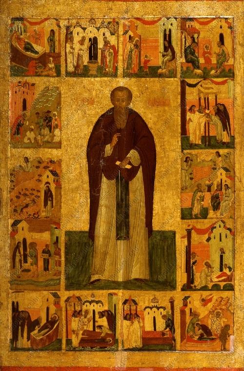 Преподобный Варлаам Хутынский с житием