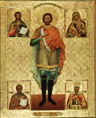 Св. кн. Александр со Спасителем