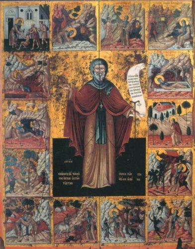 Житийная икона св. Антония Великого