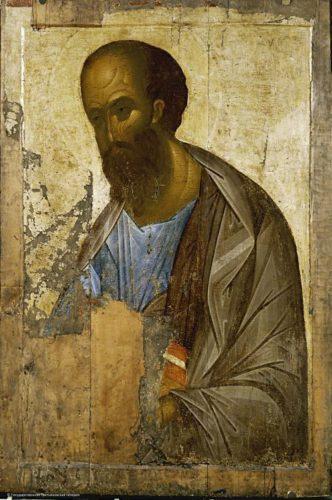 Икона Апостола Павла работы Андрея Рублёва