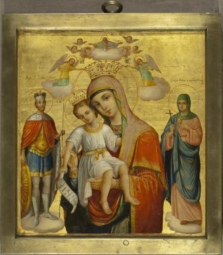 Богоматерь с Младенцем и предстоящими святыми («Достойно есть»)_10963