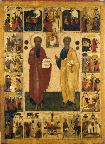 св. Петр и Павел, с житием