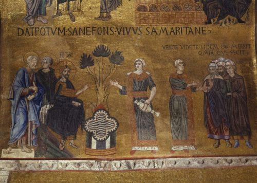 Беседа Христа с самарянкой. Италия. Венеция. Собор Святого Марка; XIV в.; местонахождение: Италия. Венеция, Собор Святого Марка