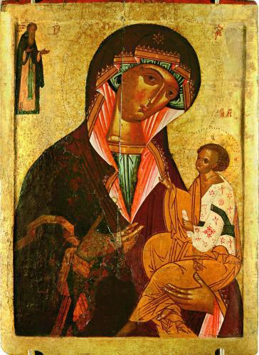 Богоматерь Грузинская, с преподобным Иоанном Лествичником_3060