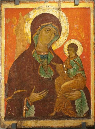 Богоматерь с младенцем (тип Грузинской)_3885