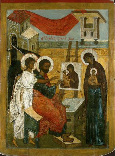 Евангелист Лука, пишущий икону Богоматери_5292