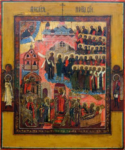 Покров Богоматери икона