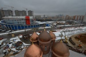 Строительство храма преподобного Сергия Радонежского на Ходынском поле , фото 2016 год