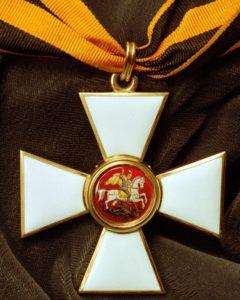 Екатерина II учредила «Военный орден Святого великомученика и Победоносца Георгия» в 1769 году.