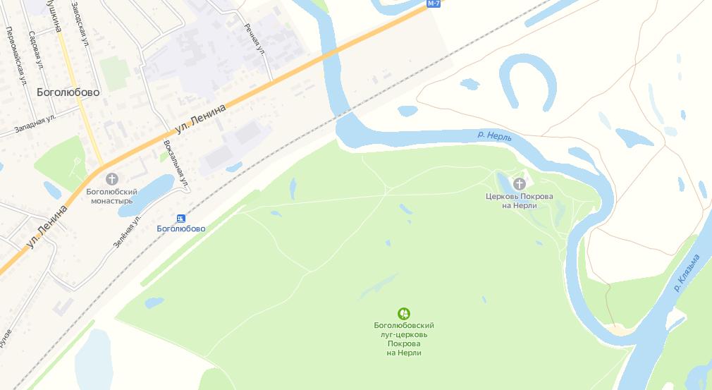 Церковь Покрова на Нерли на карте