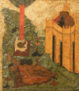 Икона середины XVI века «Спас Нерукотворный – Не рыдай Мене Мати, со сказанием о Нерукотворном образе» из собрания Константина Воронина