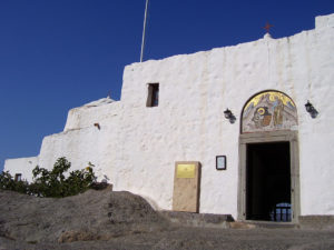 Вход в храм над пещерой Апокалипсиса