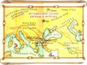 Карта путешествий Кирилла и Мефодия