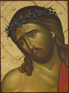 Икона Иисуса Христа в терновом венце