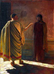 Н. Н. Ге «Что есть истина?» Христос и Пилат. 1890 Холст, масло
