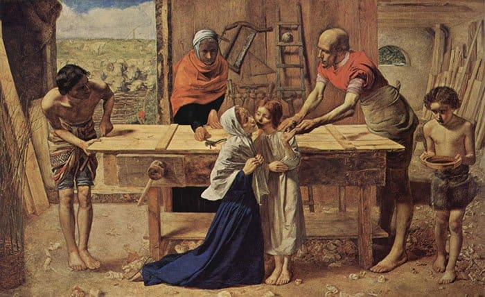 Джон Эверетт Милле, Христос в родительском доме. 1850
